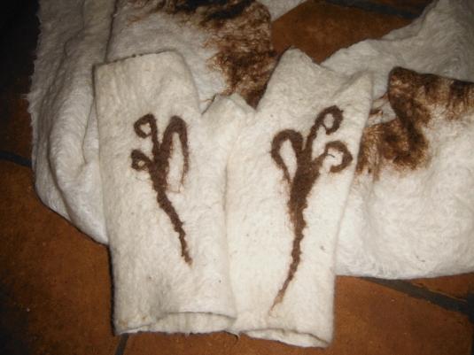 Sjaal met wanten