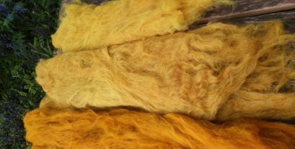 natuurlijk geverfde wol