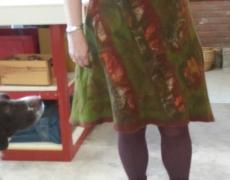 gevilte jurk