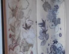 Eco print sjaaltjes