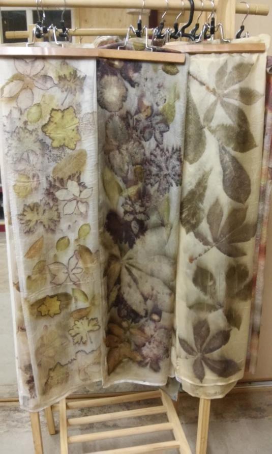diverse eco print sjaaltjes