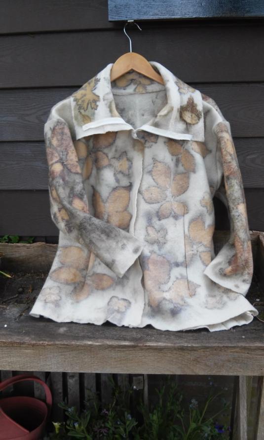 ecoprint op jasje/vest