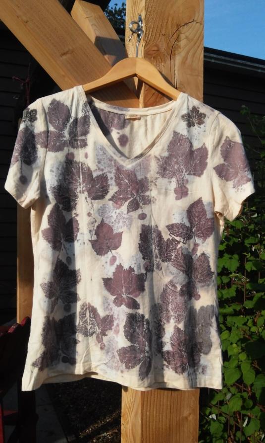 eco-print katoenen shirt