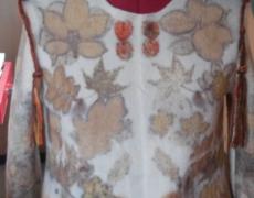 eco-print wollen shirt
